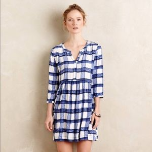 ANTHROPOLOGIE • maeve blue checkered dress
